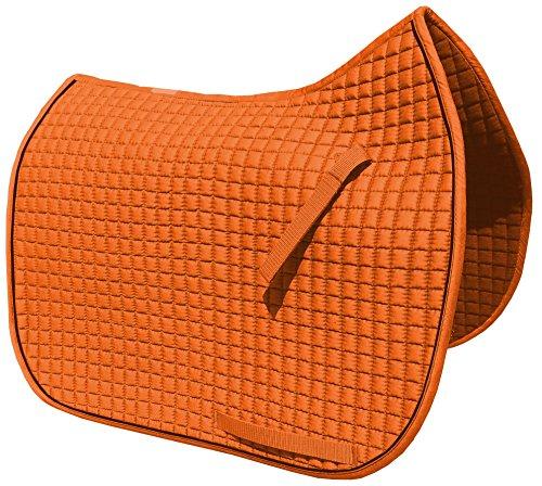 International Dressage Saddle Pad - Pumpkin Dressage Saddle Pad with Black Piping/Trim