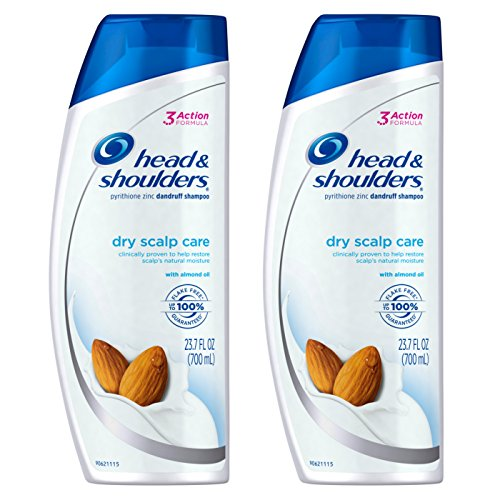 Head & Shoulders Dry Scalp Care with Almond Oil Dandruff Shampoo, 23.7 fl. oz. (Pack of 2)