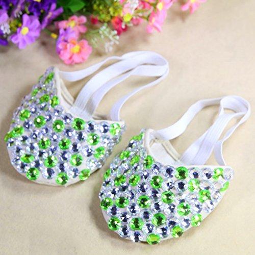 Calcifer® marca nueva egipcio Egipto zapatos de danza del vientre disfraz regalo para gran fiesta Navidad, Silver+Light Green Silver+Light Green