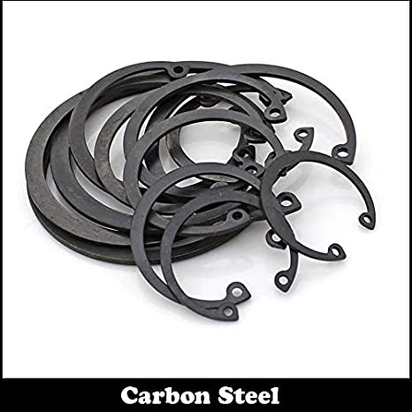 Inner Diameter: M11, Number of Pcs: 50Pcs Ochoos M11 M12 M13 Carbon Steel Mn65 Spring Washer DIN472 C Type Snap Retaining Ring for 11mm 12mm 13mm Inside Internal Shaft Circlip