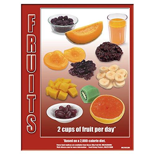 Nasco WA29853 Food Group TearPad, Fruits Fact Sheet, Pad of 50 Sheets, 8-1/2