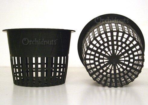 51hiQ3nfiQL 3.75 Inch Round Orchid/Hydroponics Slotted Mesh Net Pot - 20 Pack