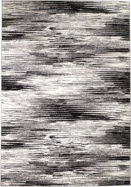 Cheap SUMMIT BY WHITE MOUNTAIN Rio 2V-NHIU-AY47 Summit 305 Grey Black Area Rug Modern Abstract Many Sizes Available, DOOR MAT 22 inch x 35 inch