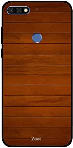 Honor 7C Case Cover Wooden Pure Brown, Zoot Designer Phone Covers