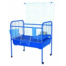 Marchioro Susan 82 Cage for Small Animals with Wheels, 32.25-Inch, Blue
