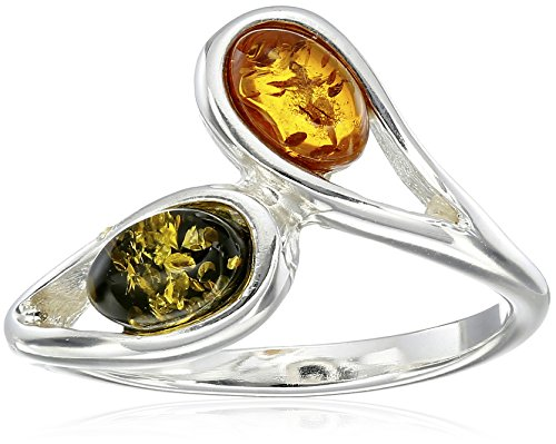 (Sterling Silver Multi-Color Amber