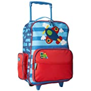 Stephen Joseph Little Boys' Rolling Luggage, Blue Airplane, One Size, 1 Pack