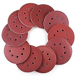 100PCS 5 Inch 8 Holes Sanding Discs - 40...