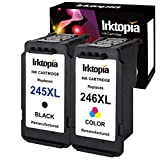 1 set Remanufactured Ink Cartridge Replacement For Canon PG-245XL / CL-246XL Ink Value Pack Ink (1Black+1Tri-Color) With Ink Level Indicator Used In Canon PIXMA iP2820 MG2420 MG2520 2920 MG2922 MG2924 MX492 MX490 Printer