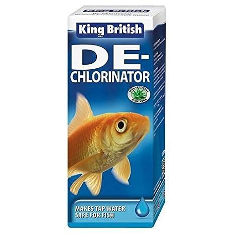Rey británico guardia de seguridad Acuario de- clorinador 100 ml (Pack de 6)