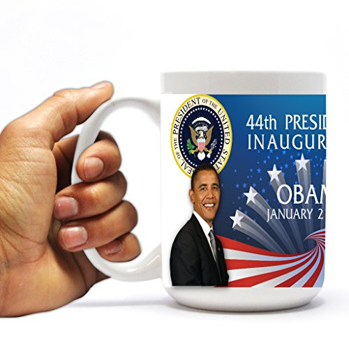 VictoryStore.com Ceramic Mugs - 44th Presidential Inauguration, Barack Obama Political Coffee Mug, 15oz