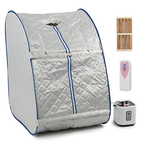 Bellavie Portable Steam Sauna Pop-Up Foldable Therapeutic Personal Slimming Spa Home Indoor + Chair & Remote
