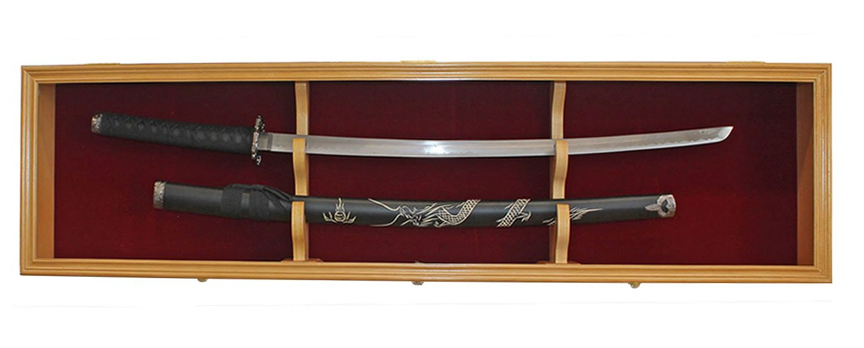 Amazon.com : 1 Sword Display Case Cabinet Stand Holder Wall Rack ...