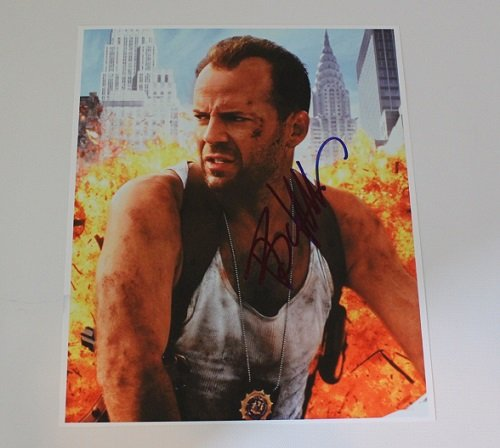 Die Hard John McClane Bruce Willis Signed Autographed 8x10 Glossy Photo Loa