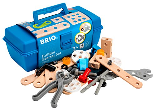 (BRIO Builder - 34586 Builder Starter Set | 49 Piece Building Set for Kids Ages 3 and)