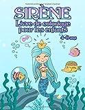 Livre de coloriage avec des sirènes - pour les enfants de 4 à 8 ans