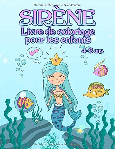 Livre de coloriage avec des sirènes - pour les enfants de 4 à 8 ans por SweetPanda Publishing