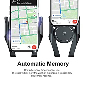 Seiaol Car Phone Holder, Cell Phone Holder for Car, Automatic Memory Function Air Vent Mount Holder Cradle with 360° Rotation for iPhone x/8/7 /6 /6Plus, Samsung Galaxy S7/S6 Edge/S6/S8 Etc.