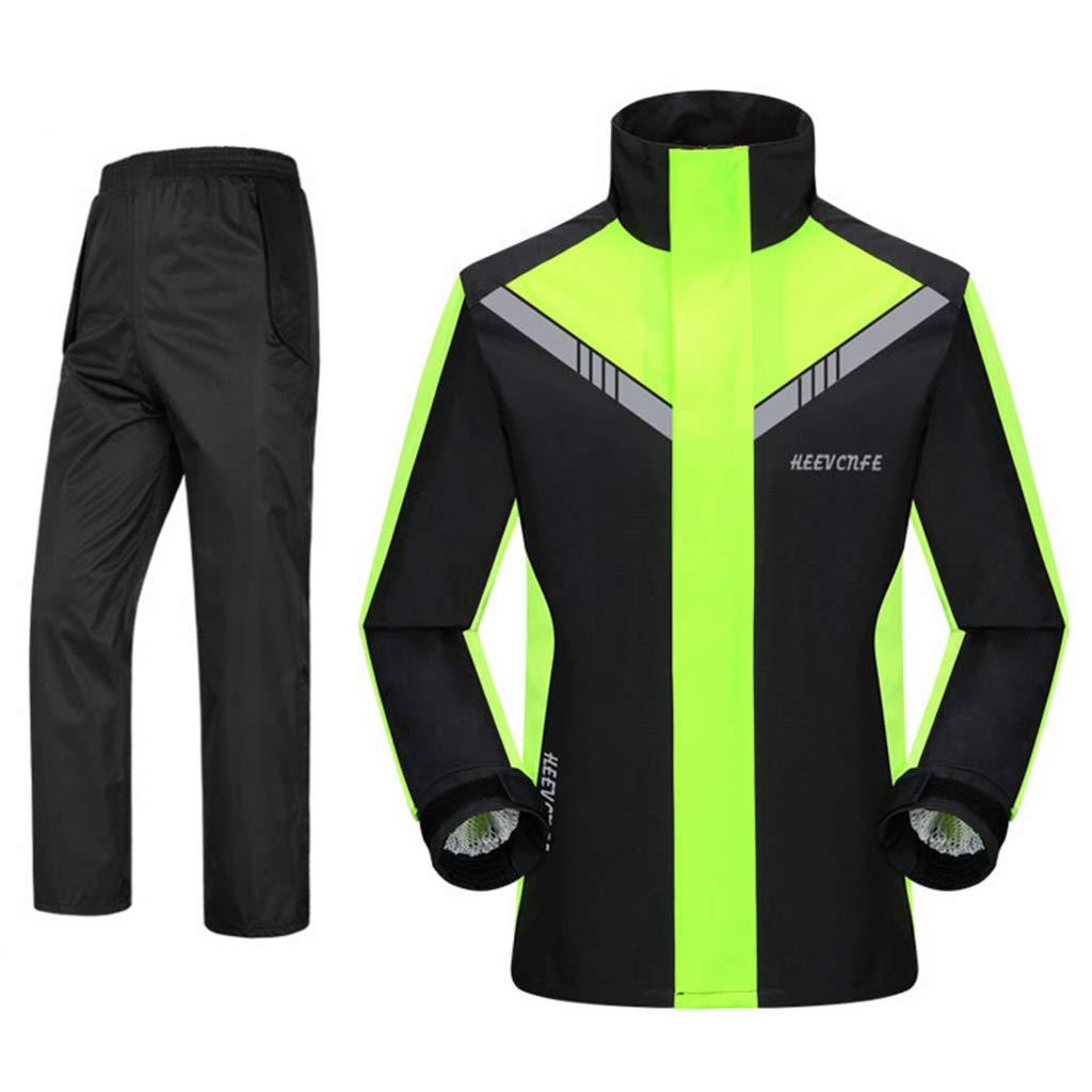 Giacca Antipioggia E Pantaloni Antipioggia allaperto HGXC WY Tuta da Pioggia per Motociclisti da Esterno per Gli Indumenti Impermeabili Riutilizzabili