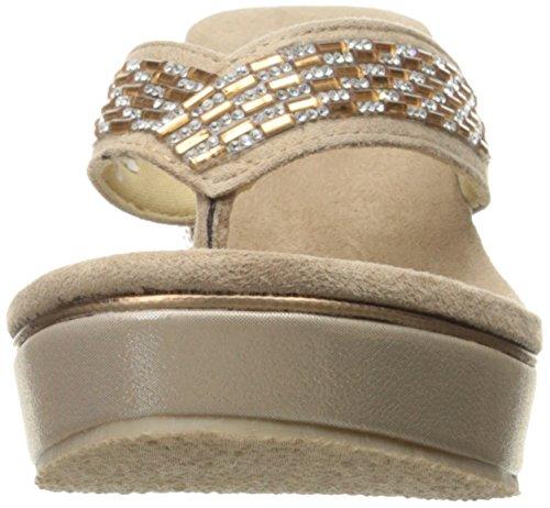 Femmes Volatiles Sandale Coin Carilla Taupe