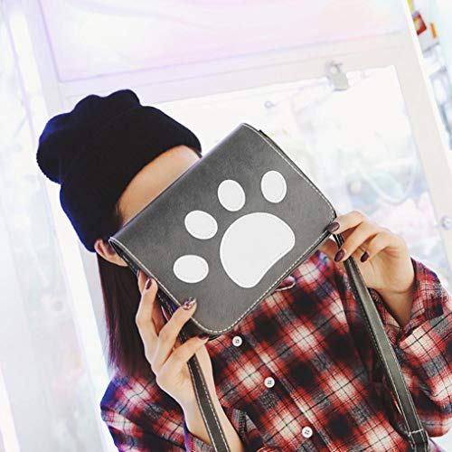 Claw for Cross Print Student Purse Bag Women Shoulder Coin Body Gray Black Bag Bags Dog Cute BwHEYqw