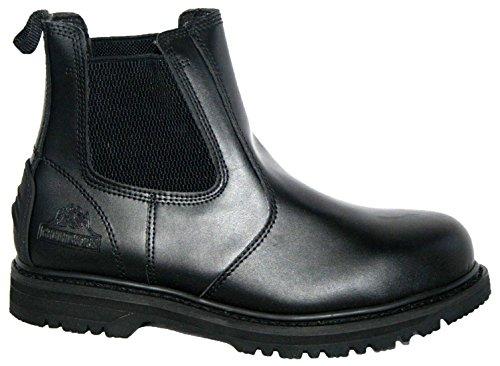 Groundwork Gr20 L Herren Sicherheitsschuhe Black Leather