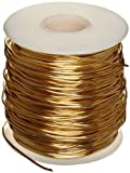230 Brass Wire, Unpolished (Mill) Finish, Annealed, Soft Temper, ASTM B134, 0.064'' Diameter, 400' Length