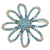 Shoppe23 Large Flower Brooch Pin Hair Jewelry Austrian Crystal Fashion Jewelry Boxed (#139)