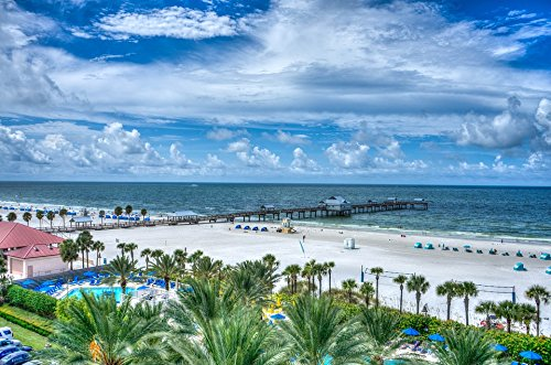 Home Comforts Laminated Poster Florida Shore Gulf Coast Water Clearwater Beach Poster Print 24 x 36 ()