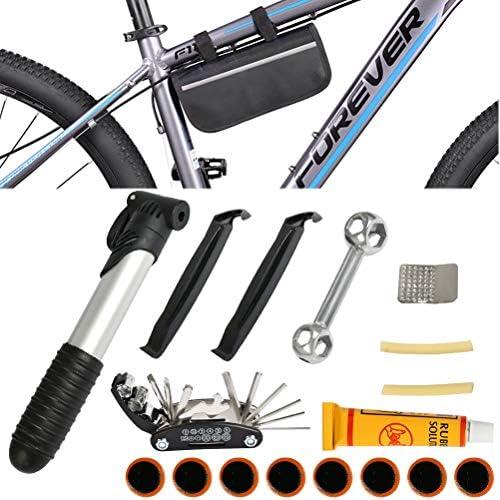 FOCCTS Kit de herramientas de bicicleta multiherramienta con mini ...