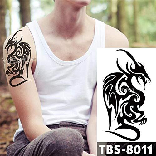 3 unids- Tatuajes temporales a Prueba de Agua Llama Moderna ...