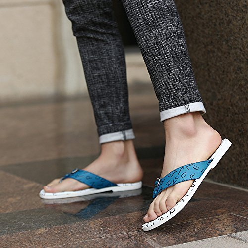 Summer Trend Flip flops Sandali freddi Ventilazione Scarpe da spiaggia scarpe chiare antiscivolo, blu, UK = 7.5, EU = 41 1/3