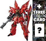 MSN-06S Sinanju (Anime Color): MG Gundam Master Grade 1/100 Model Kit + 1 FREE Official Gundam Japanese Trading Card Bundle
