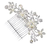 KaLaiXing® Hair Comb--Vintage Simulated Crystal and Pearl Side Combs Bridal Headpiece Wedding Accessories for Wedding