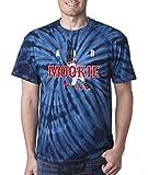 """Silo Shirts TIE DIE NAVY Mookie Betts Boston """"AIR HR"""" T-Shirt"""