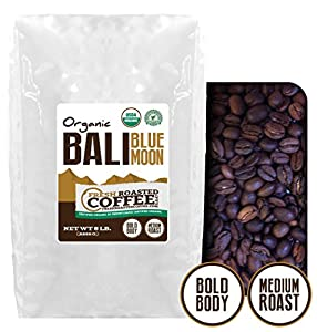 Bali Blue Moon Organic, Rain Forest Alliance Coffee, Fresh Roasted Coffee LLC.