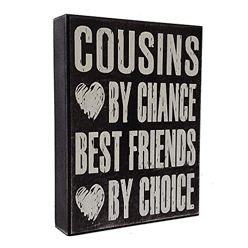 JennyGems - Cousins Chance Best Friends Choice - Funny Cousin Gift Plaque - Wall Art