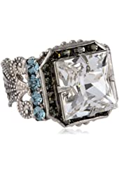 "Sorrelli ""Crystal Rock"" Princess Center Stacked crystals Ring"