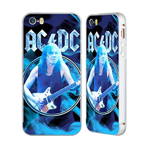 Officiel AC/DC ACDC Malcom Jeune Solo Argent Étui Coque Aluminium Bumper Slider pour Apple iPhone 5 / 5s / SE