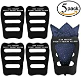 Pocket Squares Holder For Men, Best Accessories for Suits, Tuxedos,Vests and Dinner Jackets, 5Pack Assorted.