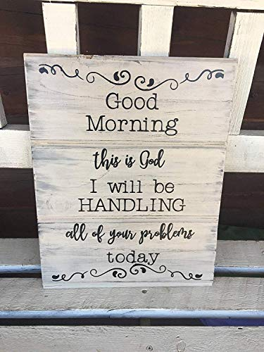 Xusmimo Good Morning Sign Bible Verse Jesus Decor Christian Home Decor Blessings Sign Blessed Sign Bible Sign Rustic Wood Sign Hand Painted Sign Wood Signs 781462
