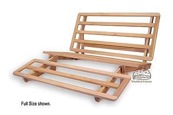 tri fold hardwood futon frame full size