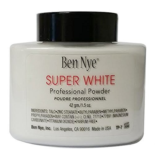 Ben Nye Classic Translucent Face Powder 1.5 oz - Super White (White Face Makeup Powder)