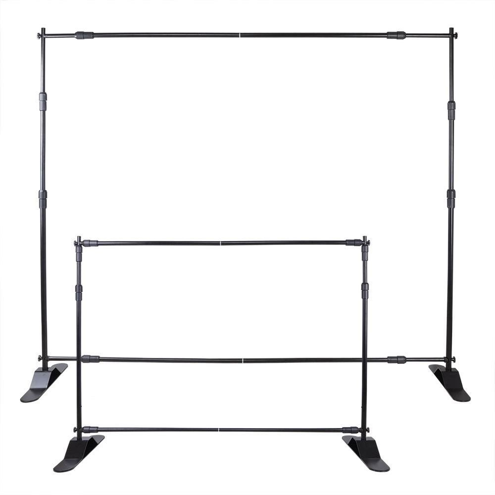 VEVOR 8' Banner Stand Adjustable Display Backdrop Lightweight Portable Trade Show Wall for Photography(8' Banner Stand) by VEVOR