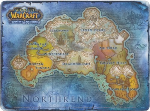 Image result for world of warcraft northrend map