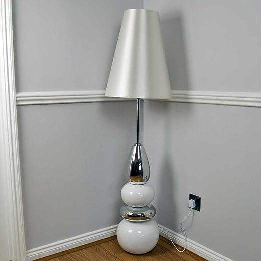 White chrome pebble statement floor lamp 152cm amazon white chrome pebble statement floor lamp 152cm aloadofball Images
