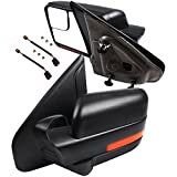 ECCPP Towing Mirrors Replacement fit for 2004-2014 Ford F150 Truck Rear View Mirrors with Manual Folding Turn Signal Lights Power Heated Back Reflector