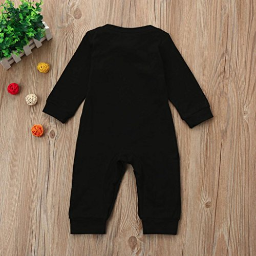 Sharemen Baby Boys Girls Jumpsuit Solid Letter Print Romper Outfit Long Sleeve Bodysuit Clothes