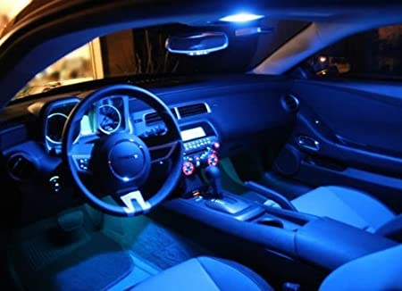 Inlink 6pcs BLUE Error Free Festoon canbus 4SMD 5050 42mm LED Car led License Plate Light Festoon led Bulb festoon dome lamp DC 12V