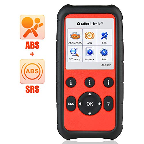 Autel AutoLink AL609P Pro OBD2 Scanner with ABS SRS Diagnosis Auto VIN Automotive Scan Tool Read Erase Check Engine Fault Codes (Pass Emission Test With Check Engine Light)